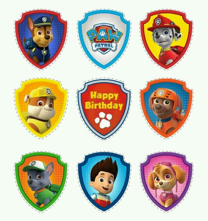 It is a graphic of Breathtaking Free Printable Paw Patrol Badges