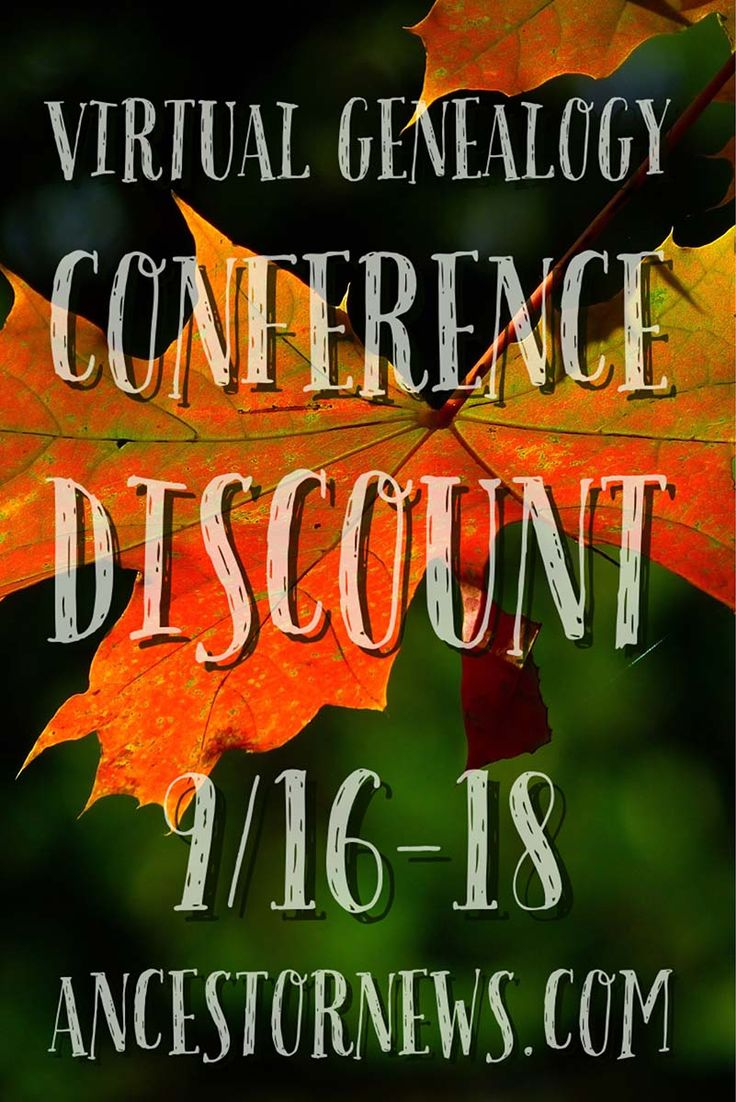 I have $20 discount coupons for anyone wanting to attend the Family Tree…