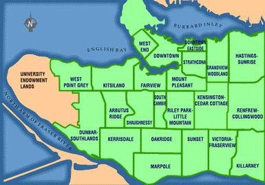 Moving to Vancouver? Choose the Right Neighborhood For You: Vancouver Neighbourhood Map