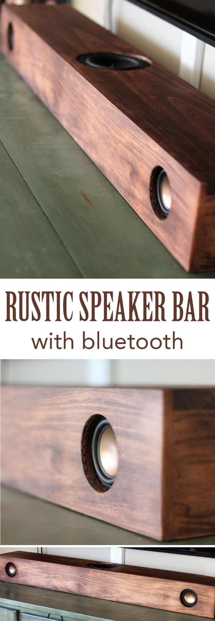 Make a stylish speaker bar from scratch.