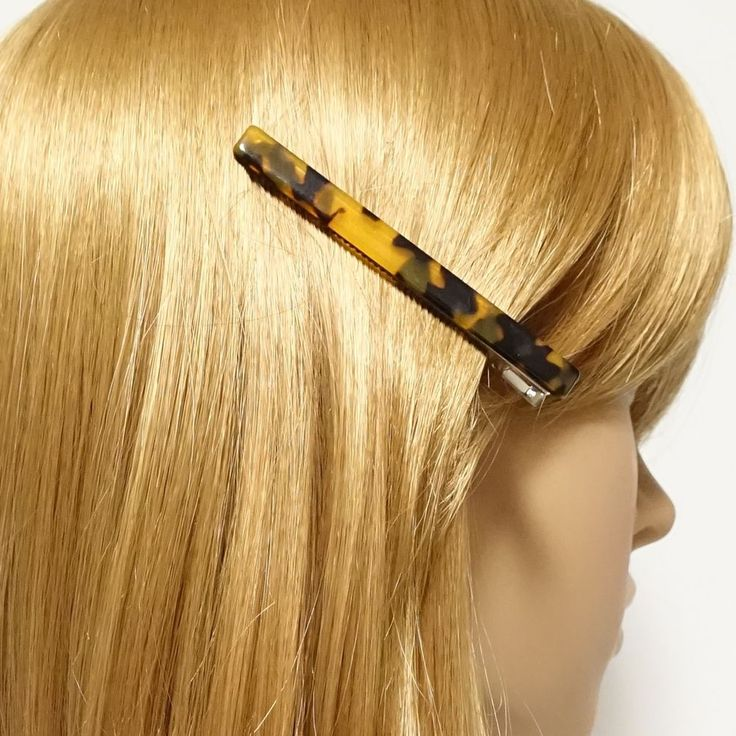 Thin Cellulose Acetate Decorated One Prong Hair Clip Women Hair Accessory  #VeryShine #Clip #hairclip