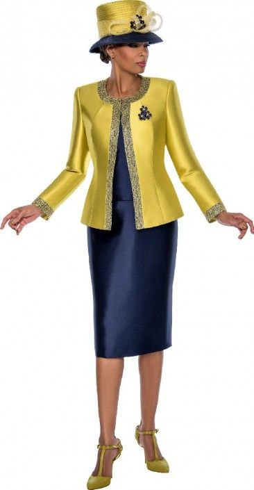 63f4471d8f Style 7637 from Terramina is a three piece ladies  two tone church suit.
