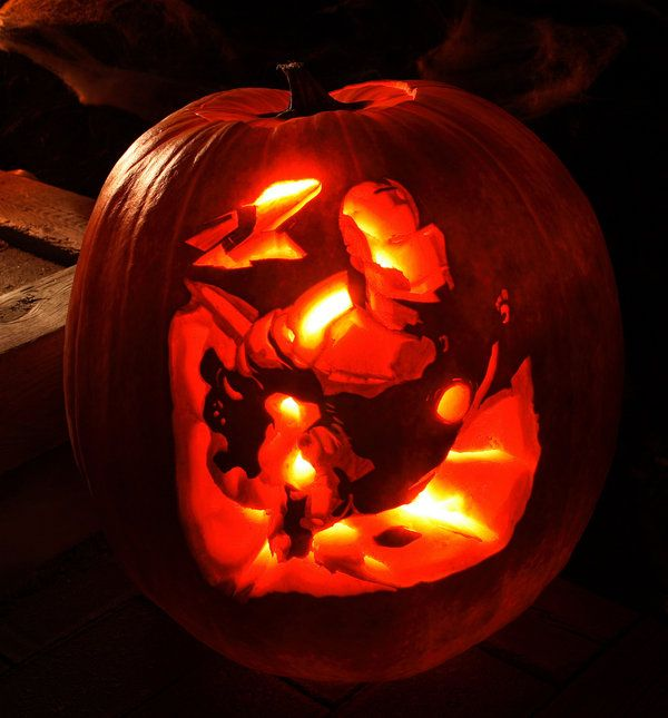 Pumpkin:Iron Man by ~fredfunkey on deviantART