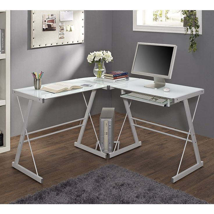 White Glass Corner Desk Wall Decor Ideas For Check More At