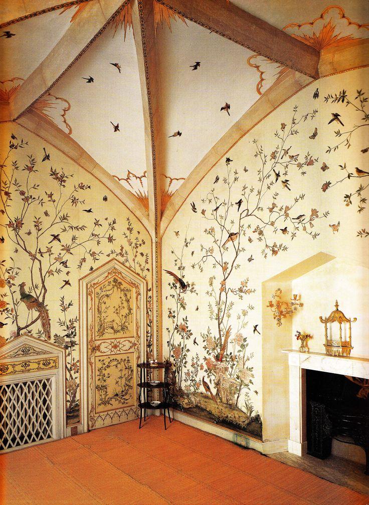 Birdcage Room - Grimsthorpe Castle, Lincolnshire circa 1760. Book: Early Georgian Interiors by John Cornforth