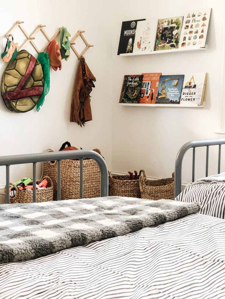 A Shared Boy S Bedroom Reveal Kids Inspiration Boys Room Decor