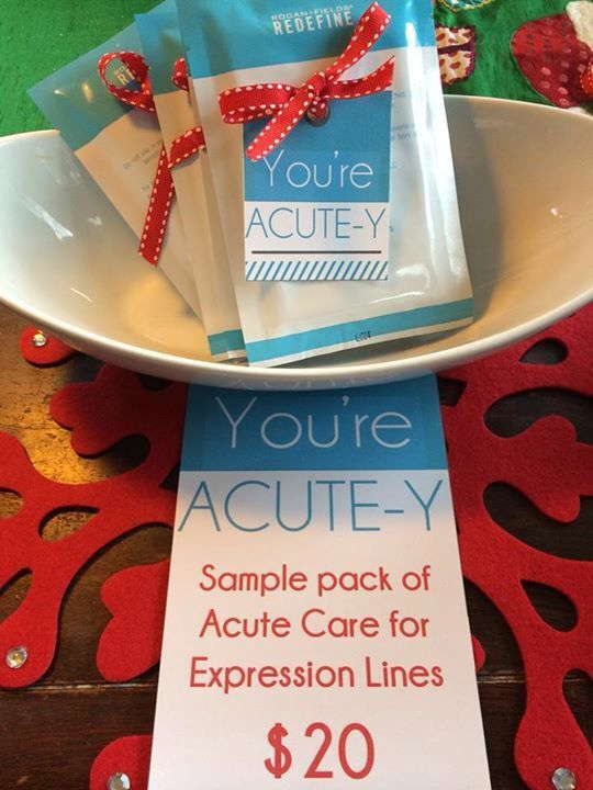 """You're ACUTE-Y"" Acute Care Sample Packs! - contact me at www.cjames4.myrandf.com"