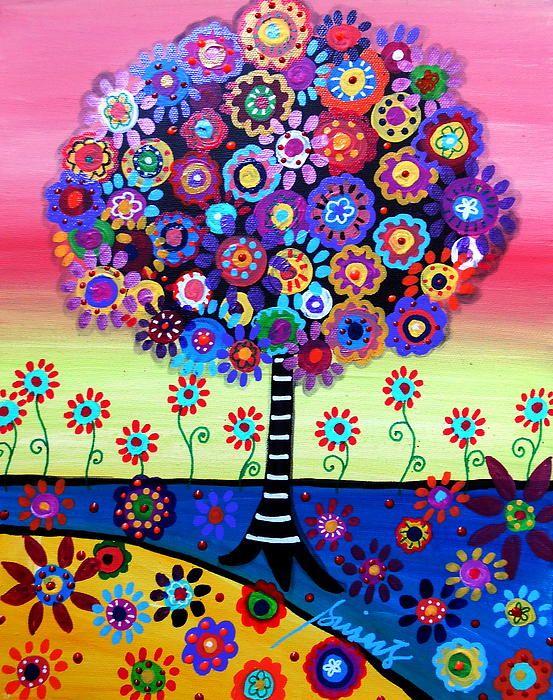 Árbol de Pintura de Vida. Visite EBAY, busque PRISARTS pinturas nuevas y originales para la venta