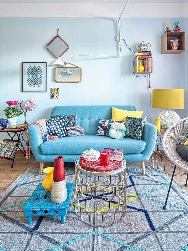 Decoração com sofá colorido - Garotas de Blush