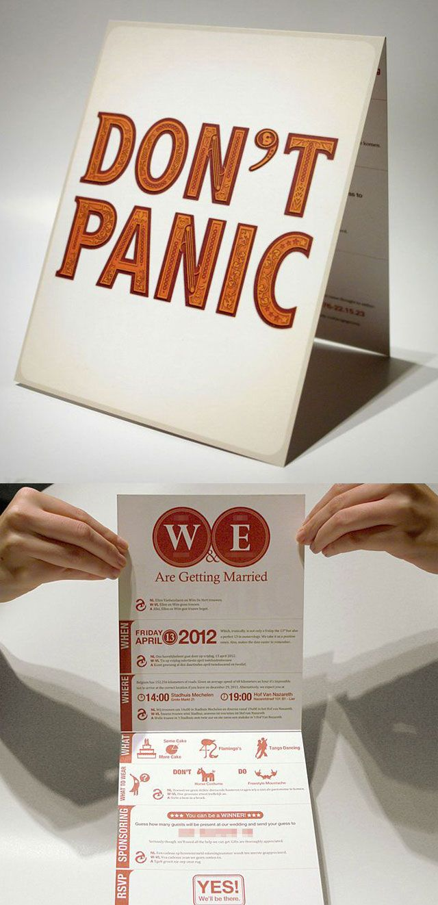 funny personal wedding card matter%0A The Hitchhikers Guide to the Galaxy Invitation