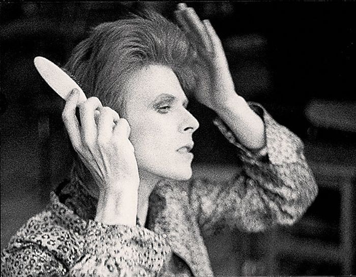 David Bowie: David Bowie preparing for showtime