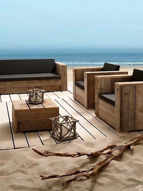 Set lounge cube par #dutchwood #boisderecup