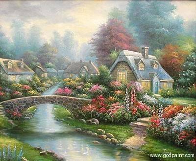 Simple Flower Garden Paintings 593 best old cottages images on pinterest | landscapes, cottage