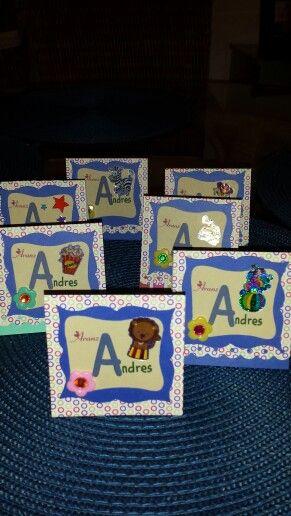 Tarjetas dobles, tarjetas de presentación infantil