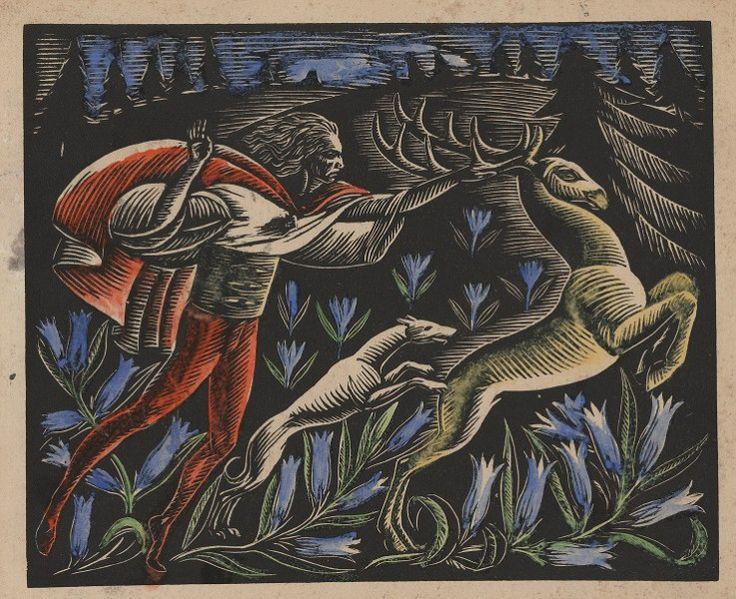 """Władysław Skoczylas, """"Łowy"""", 1920, Muzeum ASP w Warszawie (źródło: materiały prasowe)"""