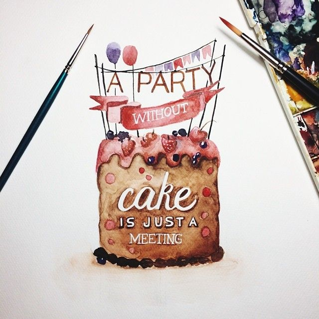 June Digan creates gorgeous watercolor lettering for quotes