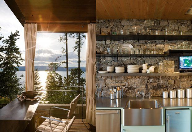 Gorgeous Eco-Lodge Built on Flathead Lake in Montana
