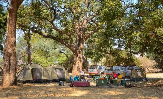 Camping at Mana Pools National Park, Zimbabwe, Africa. Read more about Mana Pools here: www.greatzimbabweguide.com/tag/mana-pools.