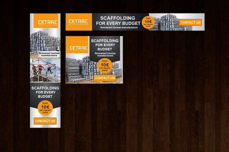Banner Design for a german scaffold Company by Maximillian