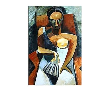 "Reprodukce obrazu ""Woman with a Fan"", 60 x 90 cm"