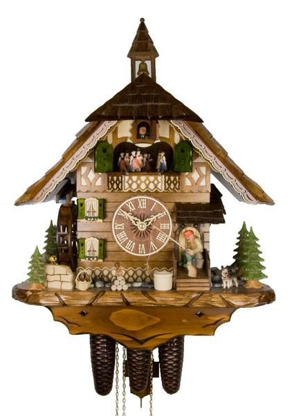 Lovely Cuckoo Clock The Fisherman by Adolf Herr