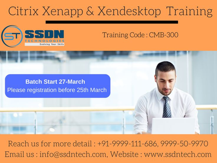 Best Institute for learning Citrix Training in Gurgaon, India. SSDN Technologies provides excellent classroom certification training for #Citrix #XenApp & #XenDesktop. Take the benefits of Citrix XenApp & XenDesktop online training and start your career. https://goo.gl/6IWpwq