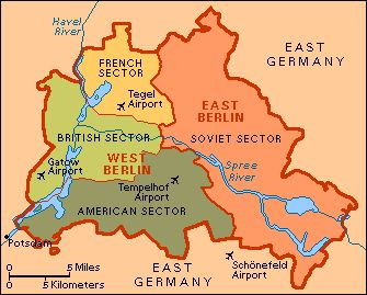 By 1948, it became apparent that the Western Powers (Great Britain, France, and US) plan to rebuild Germany differed from the Soviet Union's plan.Currency, German Unification, Soviet War reparations, and mere ideology were among the many differences the two sides had.There would be no compromise.