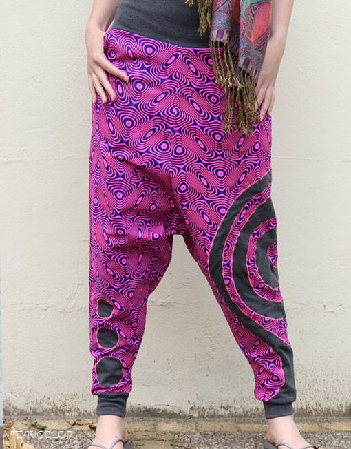 Psychedelic harem pants made by Teknicolor