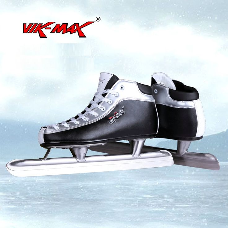 (82.15$)  Buy here - http://aijy6.worlditems.win/all/product.php?id=32794581974 - VIK-MAX genuine Leather cheap ice speed skate shoes with stainless steel ice blade only USA 9 size let sale speed skate shoes