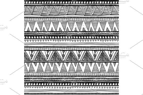 Ethnic seamless pattern native style by Rommeo79 on @creativemarket