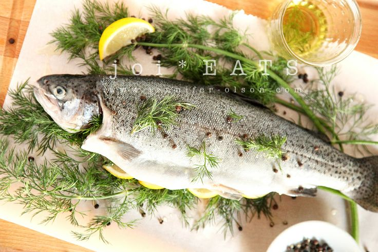 Dill and lemon Rainbow Trout recipe