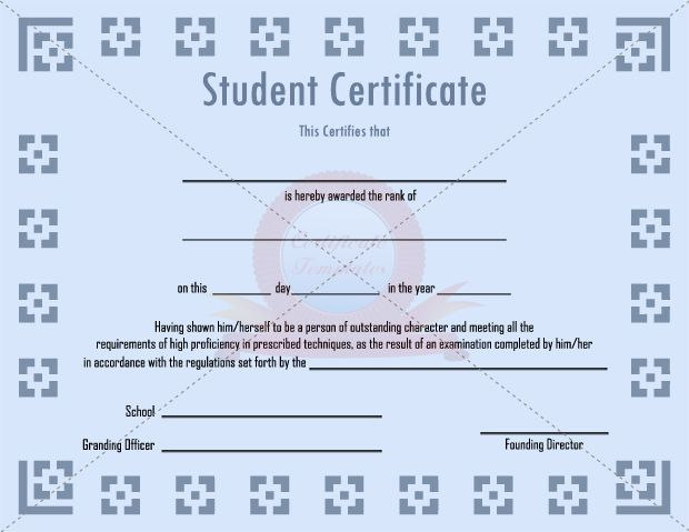 17 Best images about STUDENT CERTIFICATE TEMPLATES – Student Certificate Template