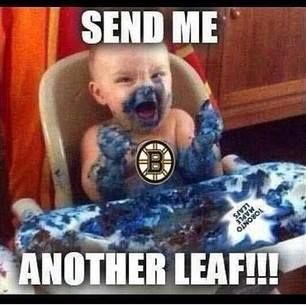 Hahaha!! Not a Bruins fan but that's still awesome