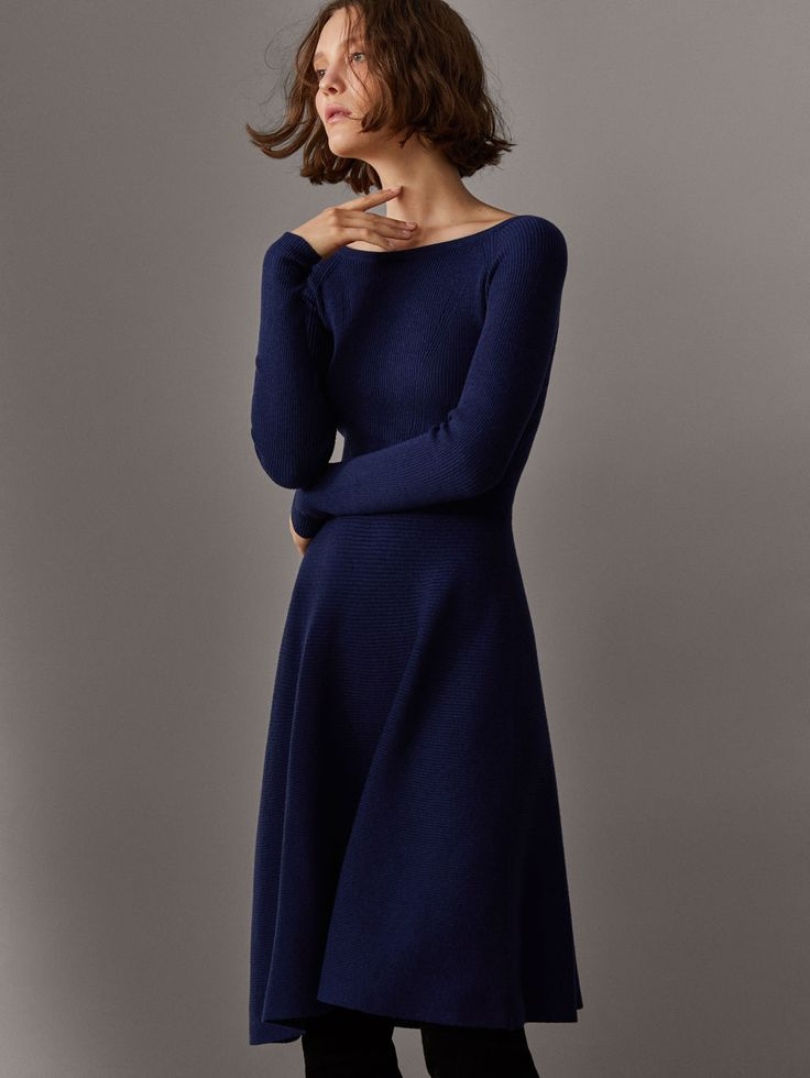 Spring Summer 2017 Women´s TEXTURED WEAVE A-LINE DRESS at Massimo Dutti for 399. Effortless elegance!