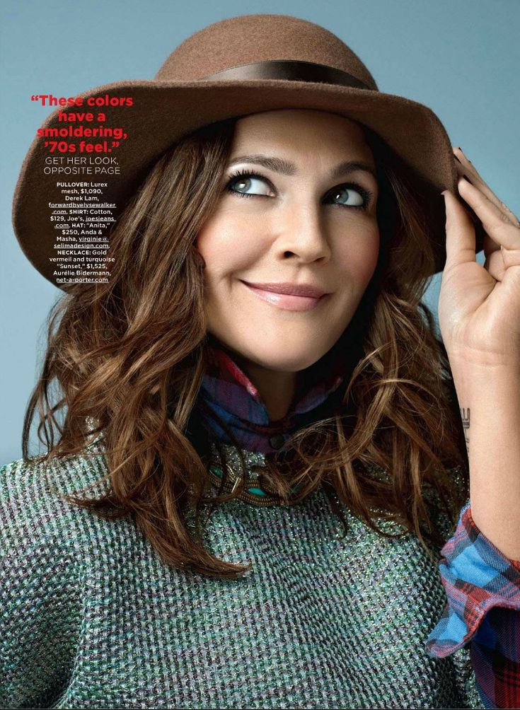 Drew+Barrymore+Hair+2013 | Drew Barrymore Lucky May 2013 Hat Drew Barrymore by Peggy Sirota for ...