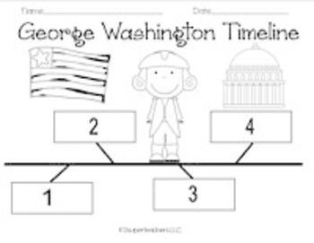 Make a George Washington timeline (President's Day or Washington's birthday) - can def use for assessment