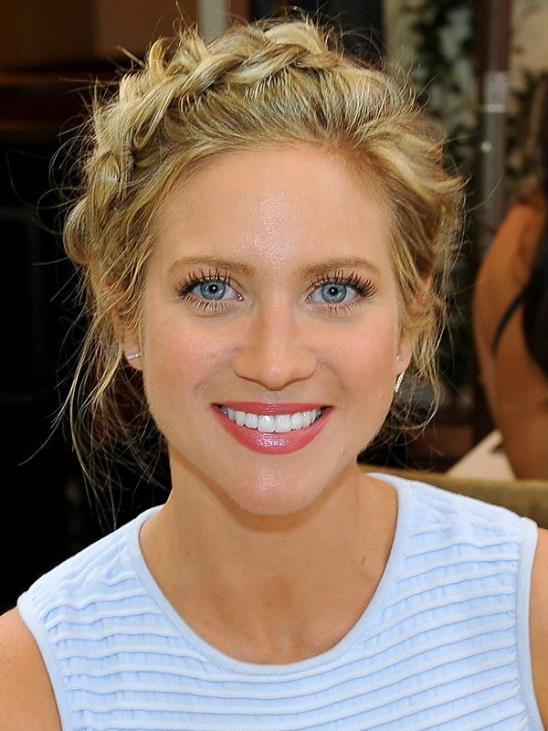 Brittany Snow in a crown braid  - click ahead to see more celebrities trying out the look