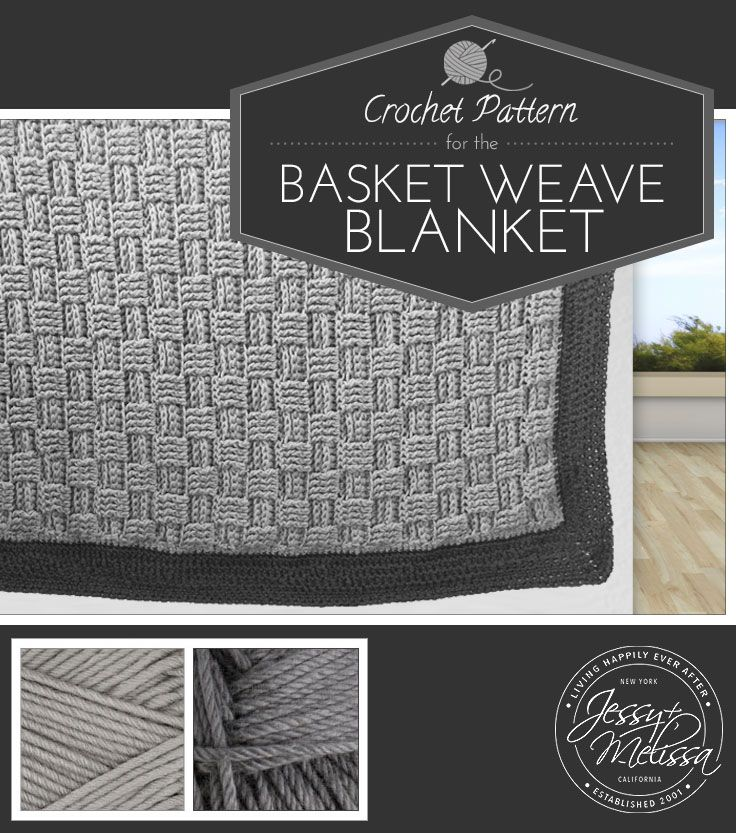 This is nice thick blanket that is great to cuddle up under on a chilly day.  The basket weave stitch gives it a beautiful texture and pattern.