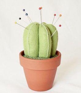 Tutoriel DIY: Coudre un coussin à épingles en forme de cactus via DaWanda.com