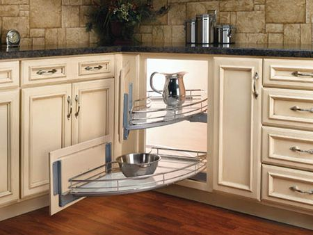 Kitchen Corner Cabinetry Options - ideas that allow for easy storage and access.