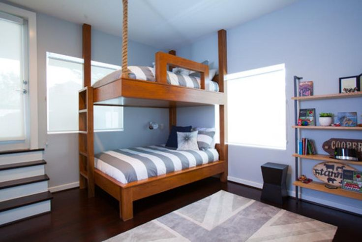 Give your bedroom a style lift with a fully or partially suspended bed — or one that just mimics the look