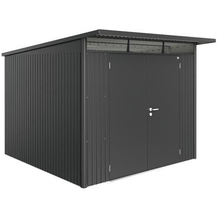 Biohort tuinhuis 'AvantGarde XL dubbele deur' staal donkergrijs 6,45 m²