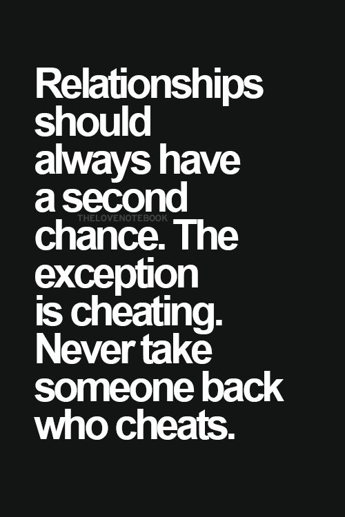 Yes!! I hate cheaters more than anything. It's a pet peeve of mine when it comes to relationships.