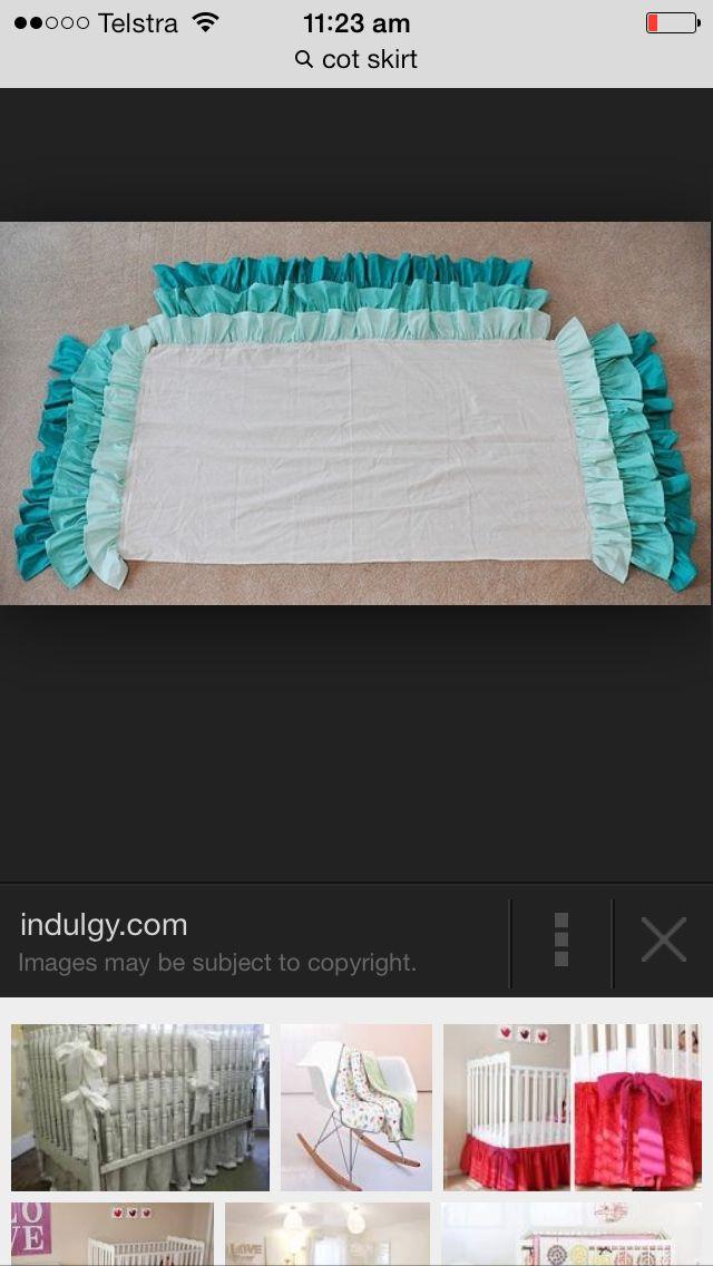Aqua or pink cot skirt???