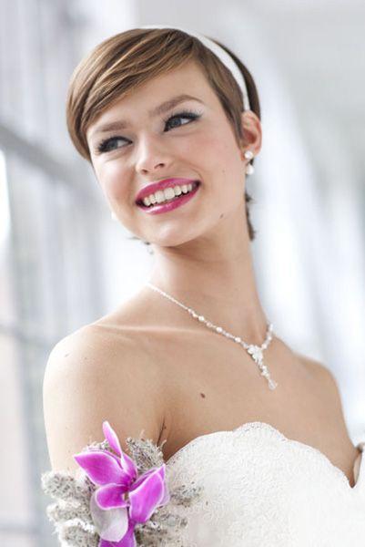 Leuk kort bruidskapsel #Bruidskapsel