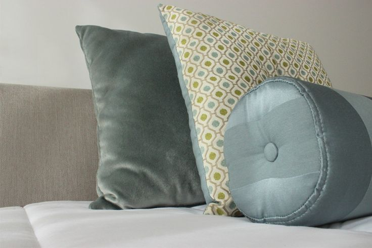 pillows | blue and green
