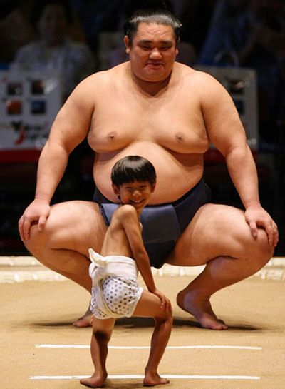 Sumo in training.