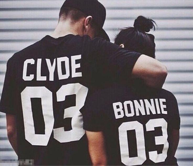 Women Men Sport Tops BONNIE CLYDE 03 Letter Print T-shirt Summer Style Outfits Tumblr Tees Sport Tops t shirt Plus Size