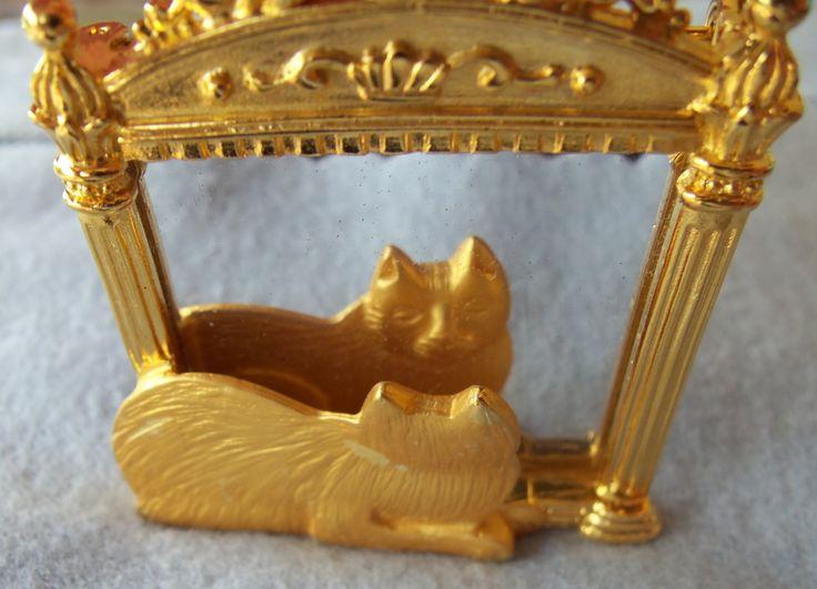 Урожай JONETTE Ювелирные изделия CAT, глядя в зеркало на LastBestBoutique