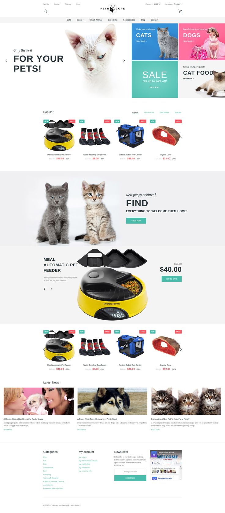 Petrocope - Pet Shop PrestaShop Theme http://www.templatemonster.com/prestashop-themes/petrocope-pet-shop-prestashop-theme-58981.html